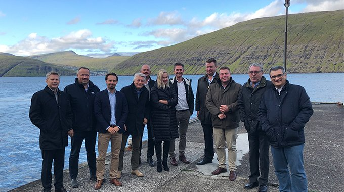 Minesto's Board and management together with SEV representatives in the Faroe Islands September 2019. Photo: David Collier