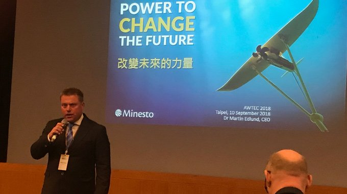 Minesto's Martin Edlund gives an Invited Speech at AWTEC 2018.